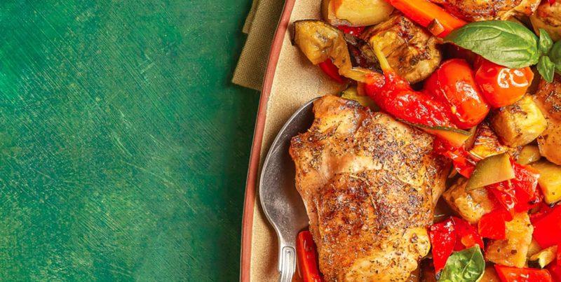 Receita: frango no forno com legumes