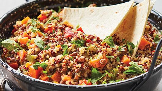Receita: caril de lentilhas e quinoa