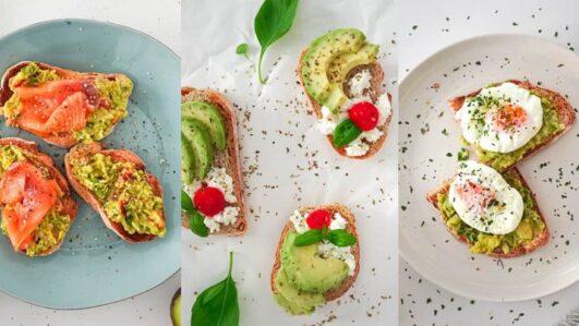 Vanessa Alfaro tostas com abacate