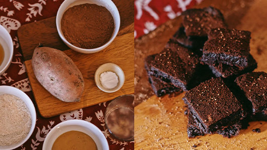 Receita de brownies de batata-doce de Alice Trewinnard
