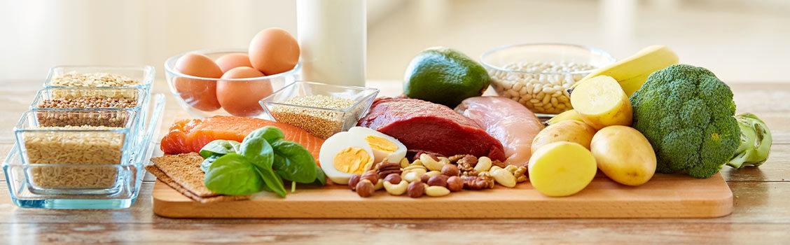 Quatro alimentos com mais proteínas