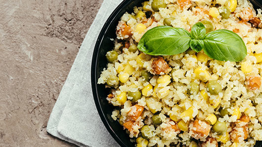 Receita de risoto de couve-flor com peru e lima
